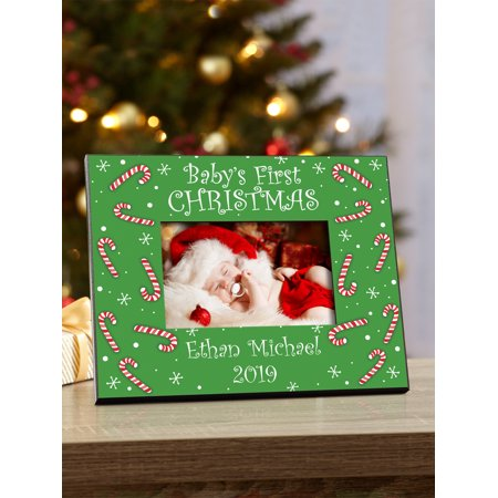 Personalized Baby's First Christmas Frame ()