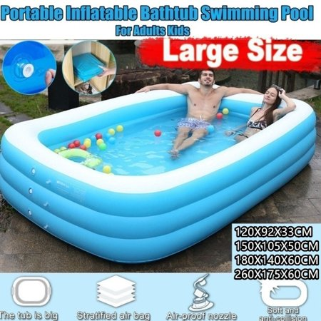 2020 New Portable Foldable Adult/children's Pool Bath Tub Outdoor Indoor 120-260 CM Thickened Inflatable Swimming Pool