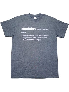 77f5a95acf Product Image Definition of a Musician Funny Mens Adult T-shirt Heather  Black (Medium)