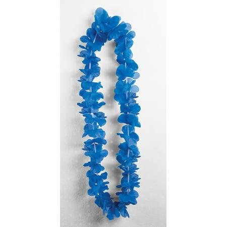 Blue Silk Carnation Leis Luau Party Supplies Accessories 3 - Carnation Leis