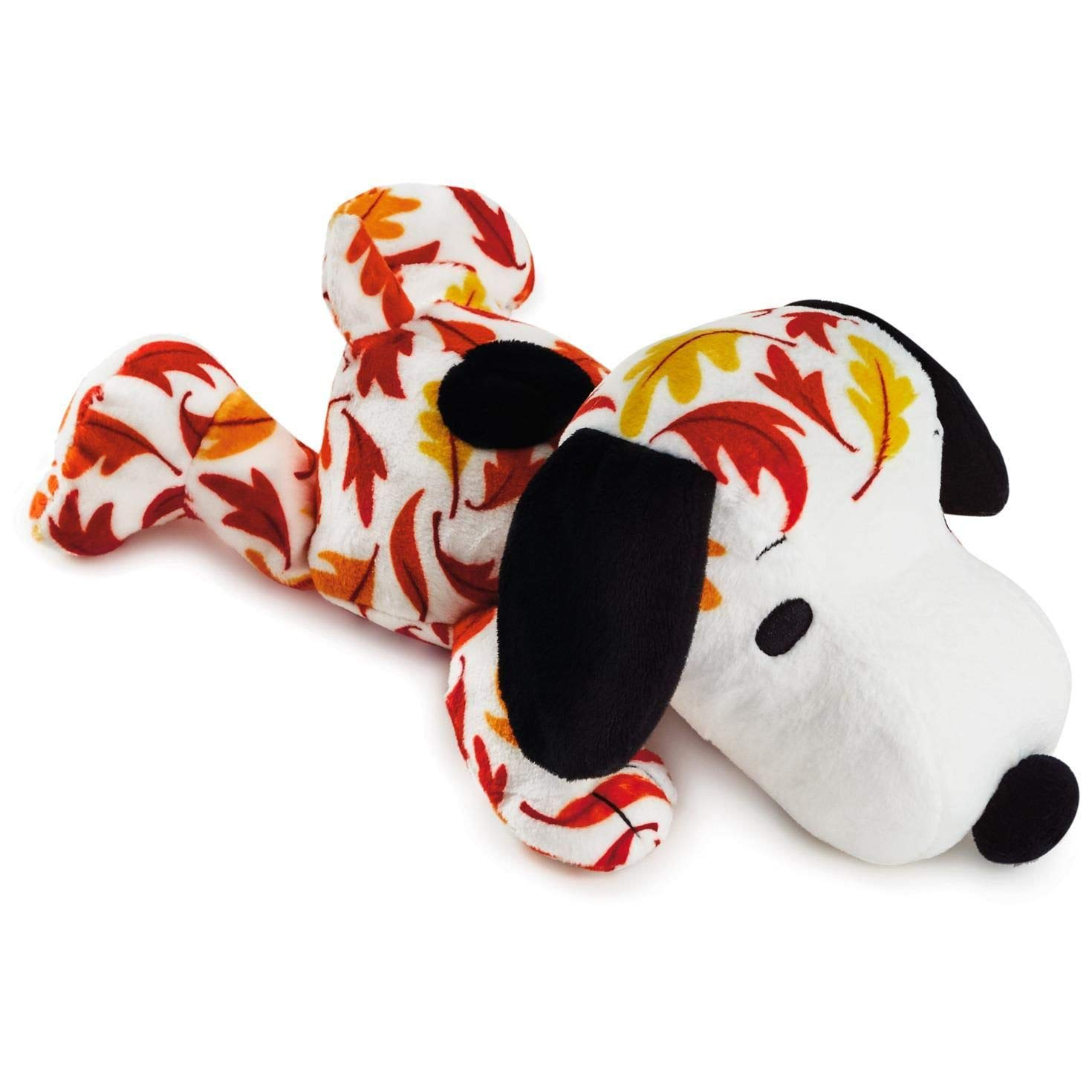 Hallmark Peanuts Snoopy Fall Leaves Print Floppy Stuffed Animal 11