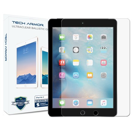 Tech Ipad (Tech Armor Apple iPad Air 2 / iPad Air (first generation) Premium Ballistic Glass Screen Protector  Protect Your Screen from Scratches and)