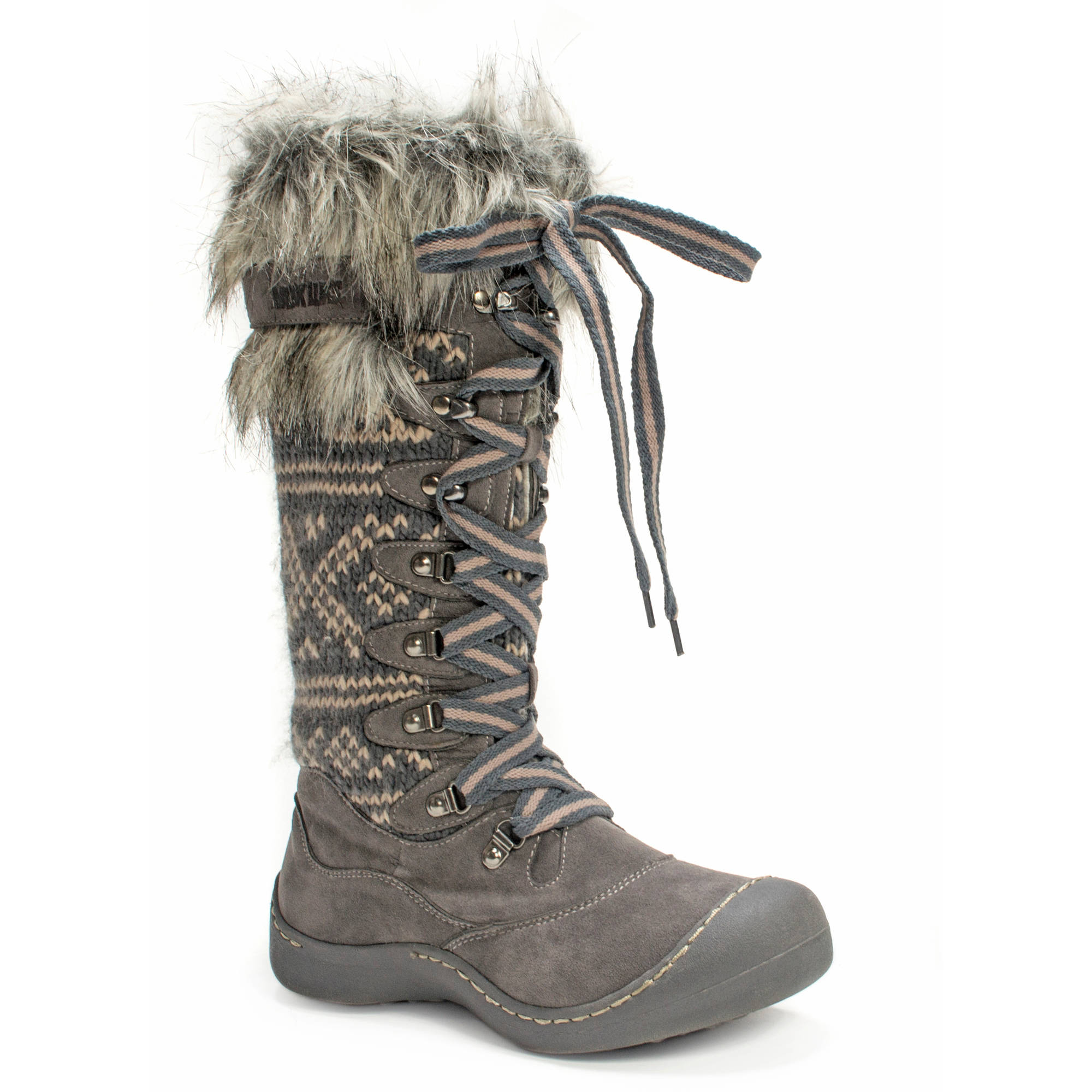 MUK LUKS Gwen Tall Lace Up Snow Boot - Walmart.com