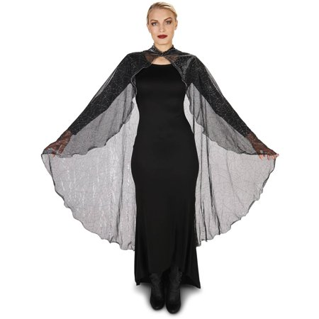 Black Spider Web Adult Cape Halloween Accessory