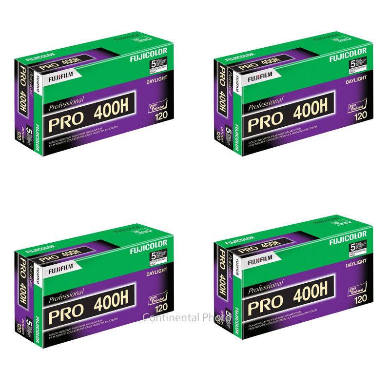 20 Rolls Fuji Pro 400H ISO 400 120 Professional Color Negative Film by Fujifilm