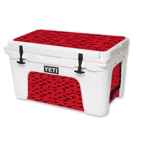 MightySkins Protective Vinyl Skin Decal for YETI Tundra 45 qt Cooler wrap cover sticker skins Guns