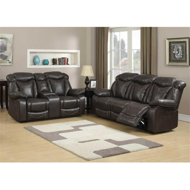 AC Pacific OTTO  2PC SET Otto 2 Piece Transitional Reclining Living Room Set