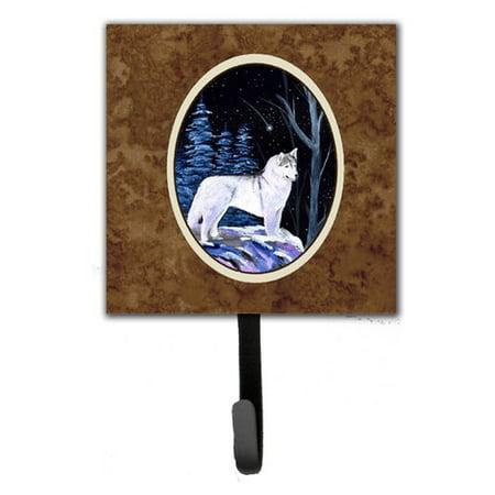 Caroline's Treasures Starry Night Siberian Husky Leash Holder and Wall Hook