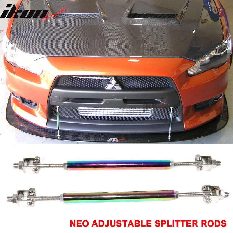 how to make splitter support rods