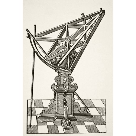 Astronomical Sextant For Measuring Distances After Copper Engraving In Book Tychonis Brahe Astronomiae Instauratae Mechanica Of 1602 From Science And Literature In The Middle Ages By Paul Lacroix Publ