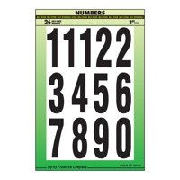 """3"""" Black and White Numbers Set"""
