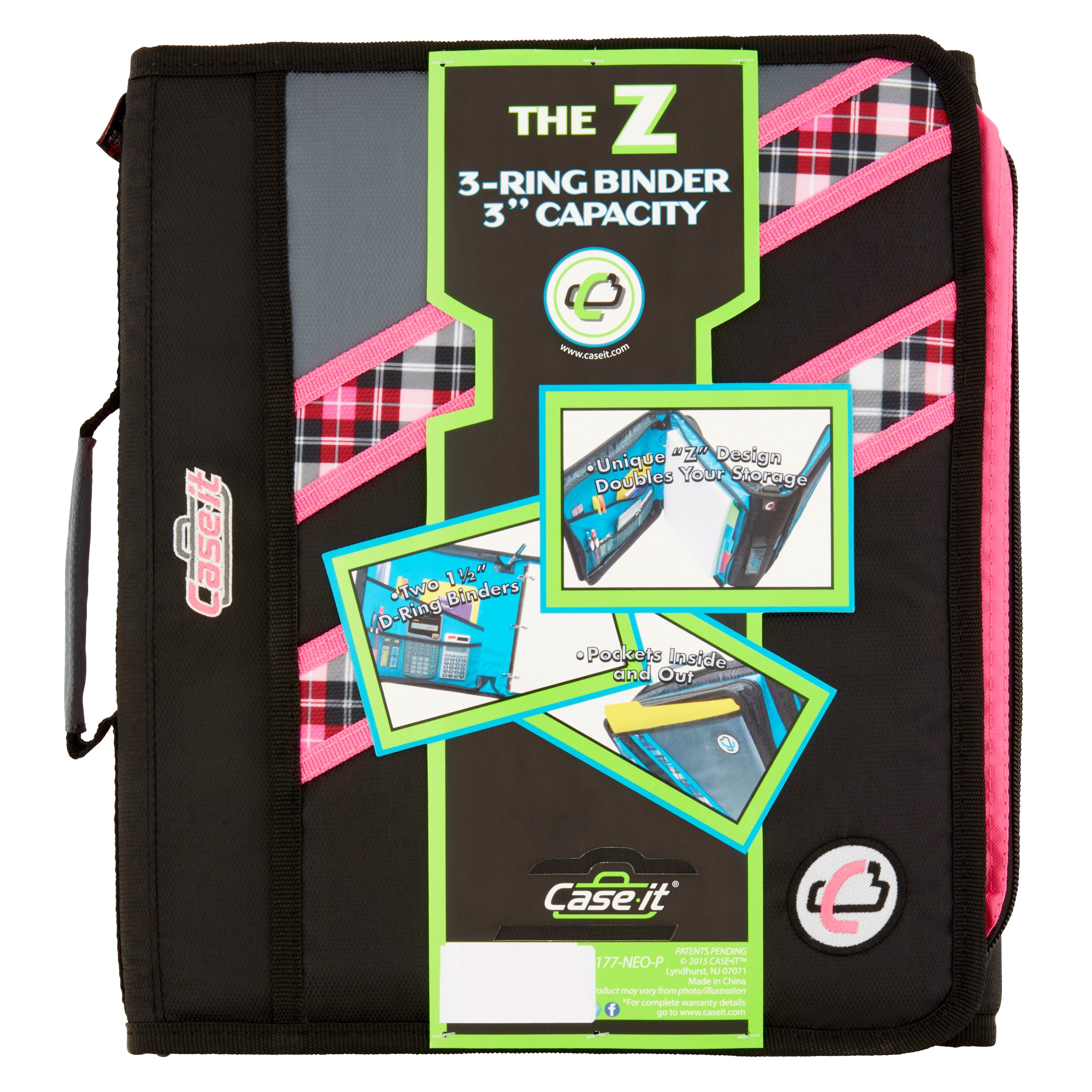 "Case It The Z 3-Ring Binder 3"" Capacity"