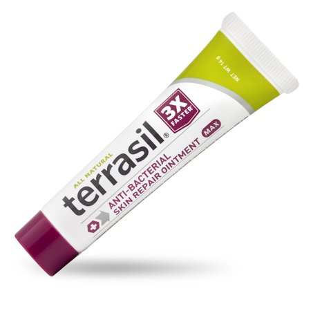 Terrasil® Antibacterial Skin Repair MAX Strength with All-Natural Activated Minerals® for the Healing of Skin Irritation, Ulcers, Blisters and More 3X Faster (14gm tube (Best Thing For Stomach Ulcers)