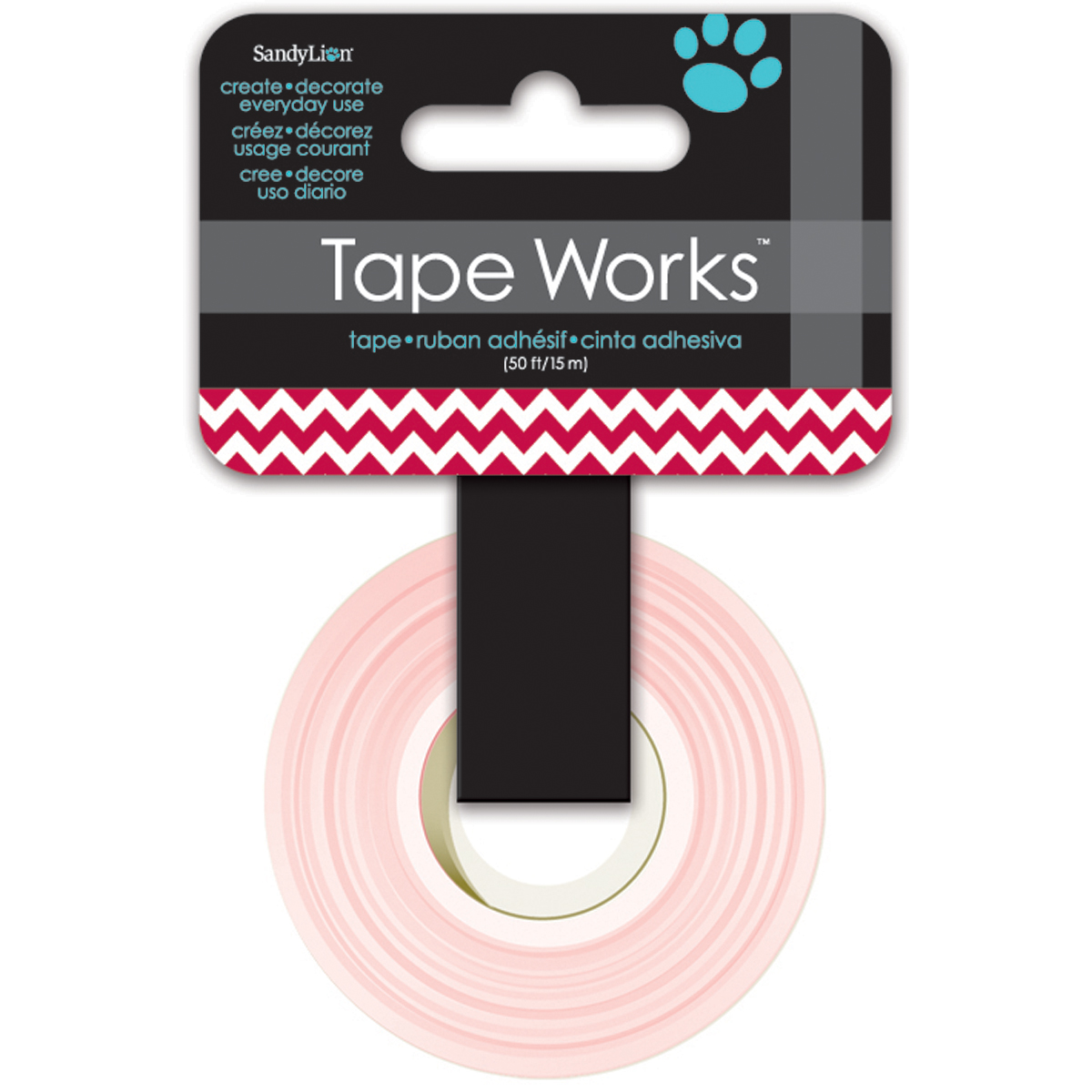 "Tape Works Tape .625""X50'-Chevron Deep Red"