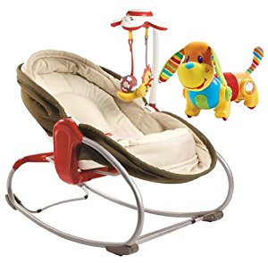 Tiny Love 3 in 1 Rocker Napper with Follow Me Activity Toy, Red by Tiny Love