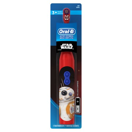 Oral-B Kid's Battery Power Toothbrush featuring Disney's STAR WARS, Characters/Color May