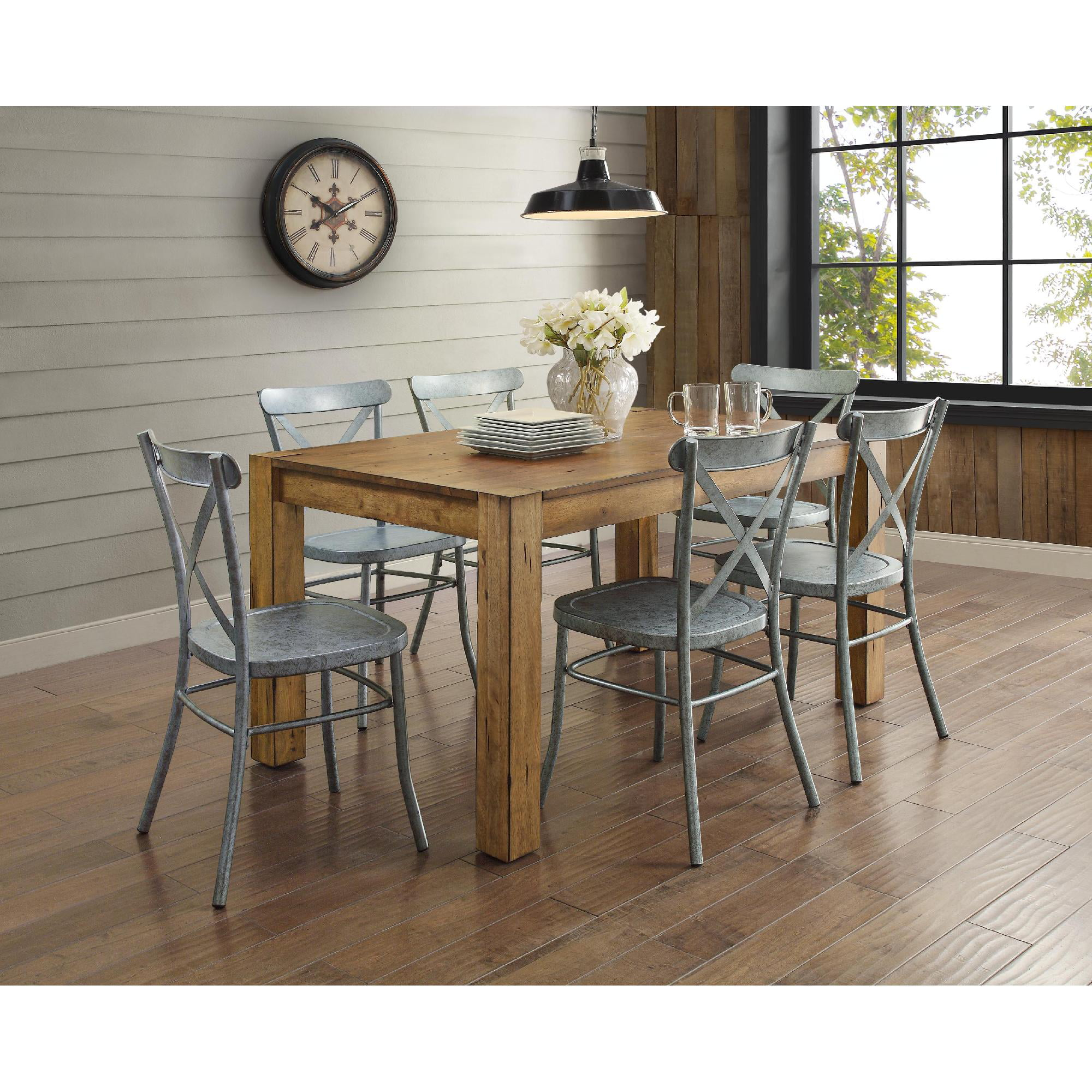 Better Homes and Gardens Collin Distressed White Dining Chair, Set ...