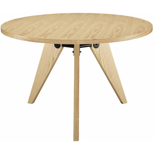 Modway Laurel Round Wood Dining Table, Multiple Colors