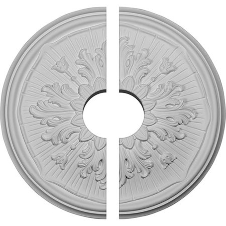 15 3/4u0022OD x 3 1/2u0022ID x 5/8u0022P Luton Ceiling Medallion, Two Piece (Fits Canopies up to 3 1/2u0022)