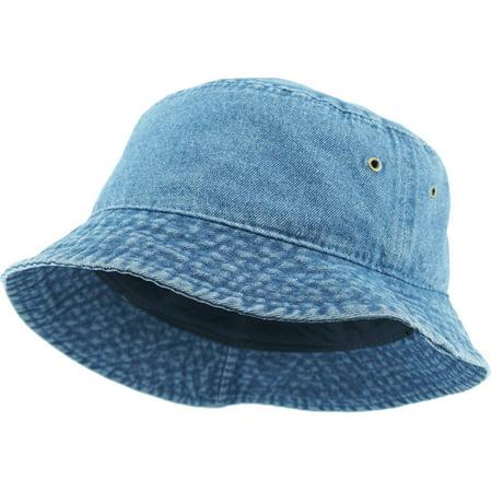 a2678959b9c04 Bucket Hat Boonie Basic Hunting Fishing Outdoor Summer Cap Unisex 100%  Cotton - Walmart.com