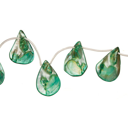 Green Mother-Of-Pearl Teardrop Nacre Mop Shell Beads (Drilled Teardrop Green)