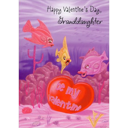 Freedom Greetings Fish Finds Valentine: Granddaughter Valentine's Day Card](Fish Valentine)