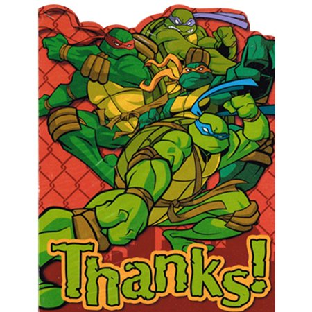 Teenage Mutant Ninja Turtles Thank You Notes w/ Env. (8ct)](Ninja Turtle Invitations)