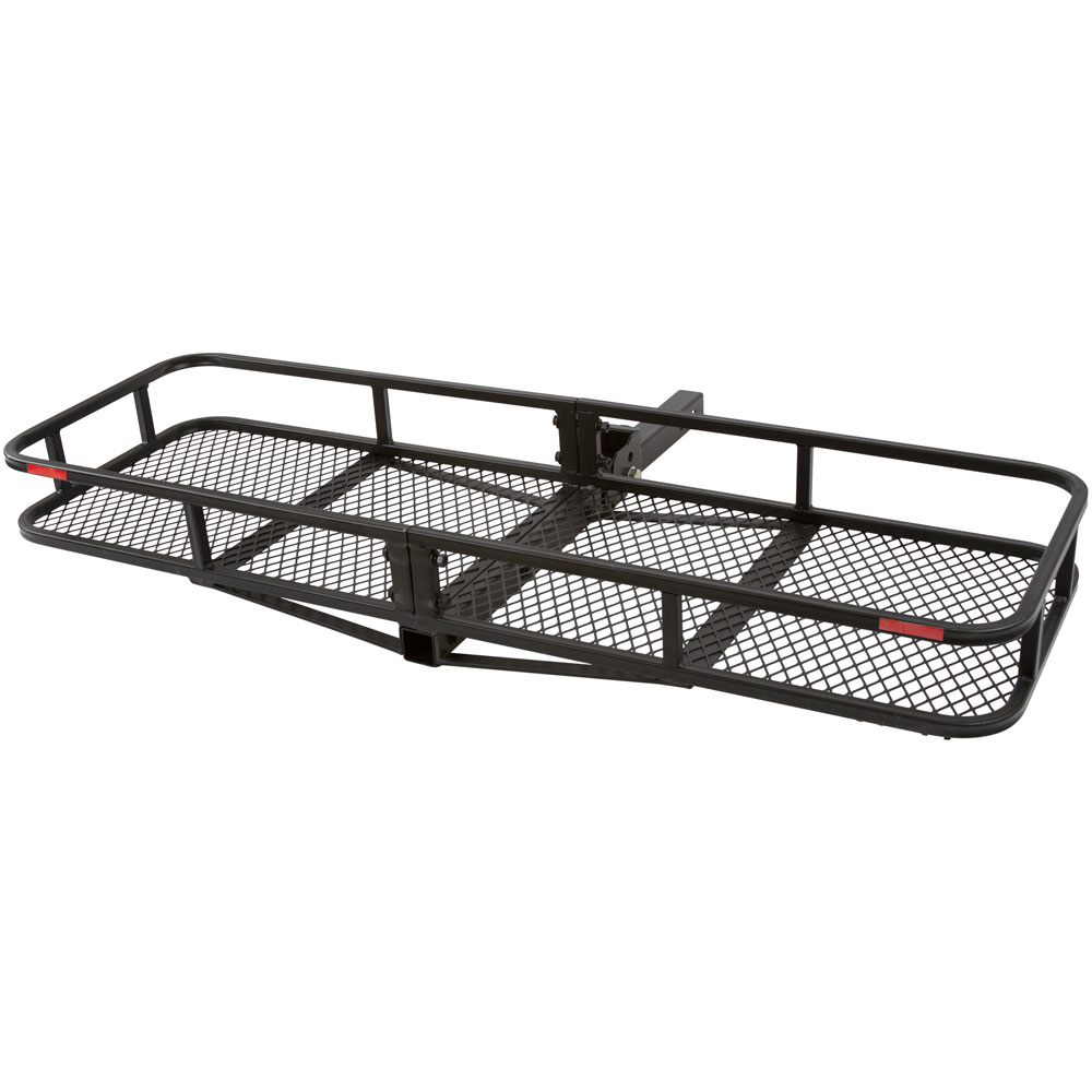"Folding Hitch Cargo Carrier Basket for 2"" Class III or IV Receivers"