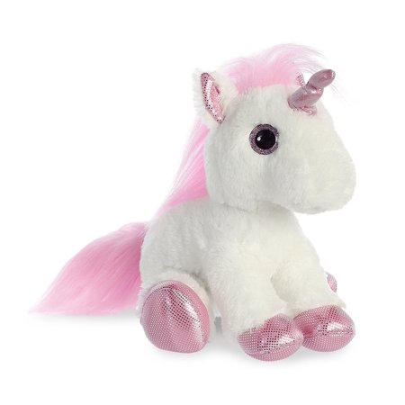 Pink Unicorn 12 Inch (Sparkle Tales) - Stuffed Animal by Aurora Plush - Unicorn Plush