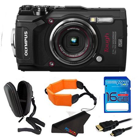 Olympus Tough TG-5 Digital Camera (Black) + Pixi Essentials Bundle Kit
