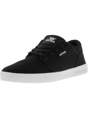 7c6bef32d340 Product Image Supra Boy s Yorek Low Black   White Ankle-High Skateboarding  Shoe - 5M