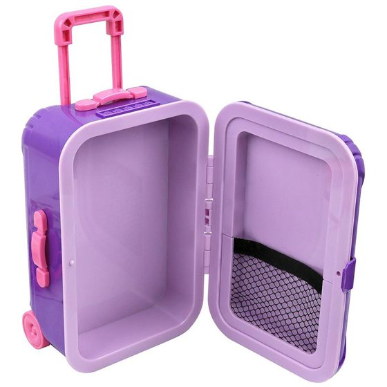 """50bf664705 Click N' Play 18"""" Doll Travel Carry on Suitcase Luggage 7 Piece Set with  Travel Gear Accessories, Perfect for 18"""" inch Dolls. - Walmart.com"""