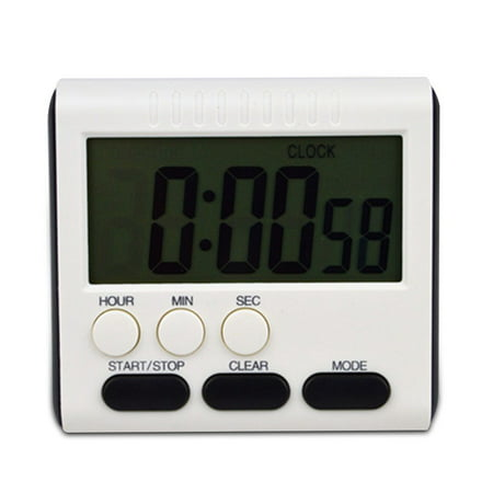 Magnetic Digital Time Large LCD Digital Kitchen Timer Alarm Count Up&Down Clock