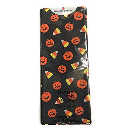 American Greetings Pumpkin Candy Corn Halloween Tissue Paper, Multicolor (Parents Eat Halloween Candy)