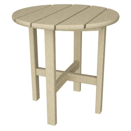 Trex Outdoor Furniture Recycled Plastic Cape Cod Round 18 in. Side Table