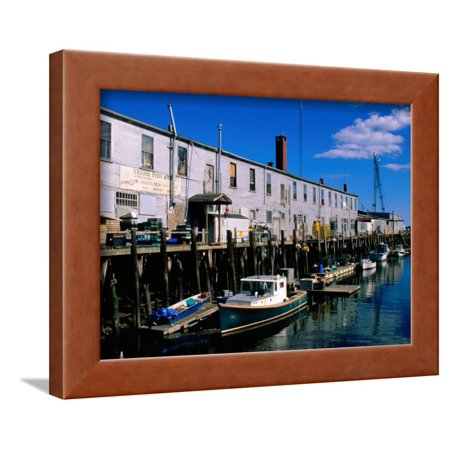 - Old Port Exchange Area, Fishing Docks, Portland, Maine Framed Print Wall Art By John Elk III