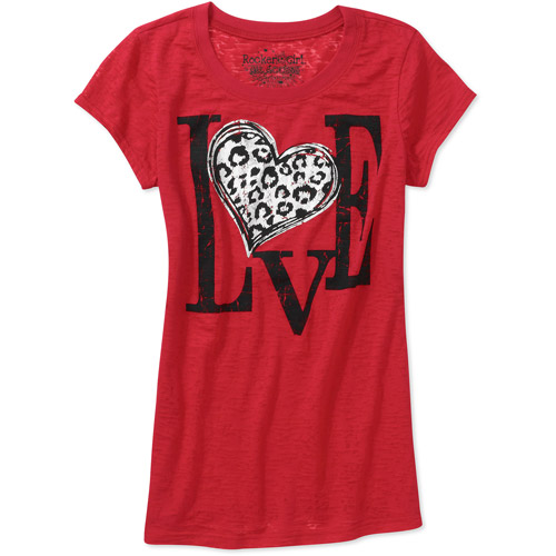 Rocker Girl Juniorsu0027 Love Red Valentineu0027s Day Graphic T Shirt