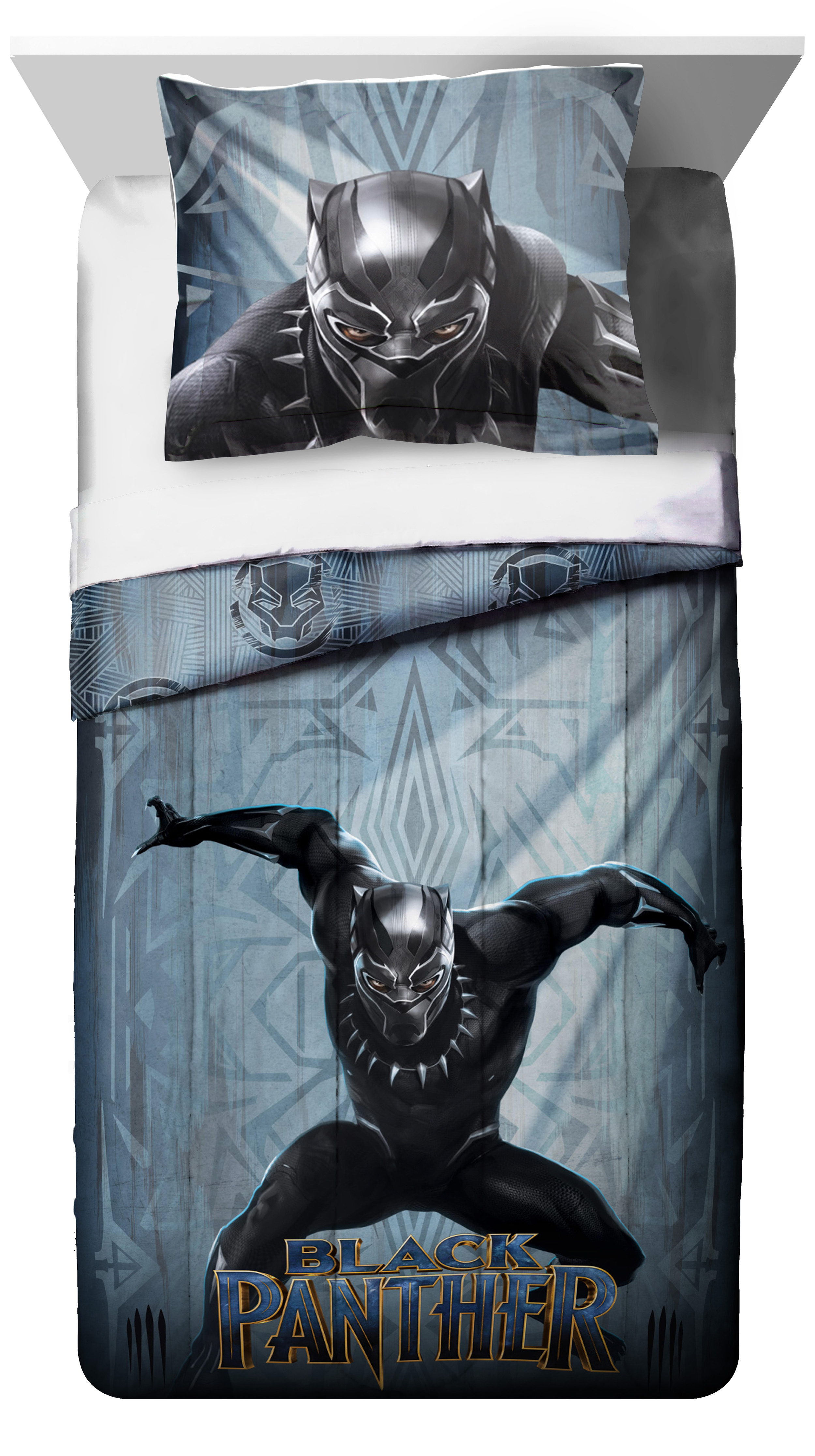 Black Panther 2 Piece Twin Full Comforter and Sham Set, Kid's Bedding by Jay Franco and Sons, Inc.