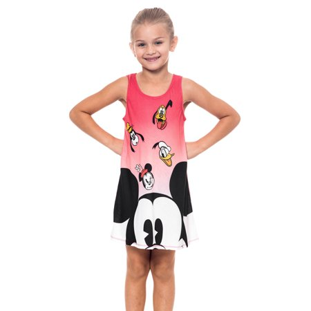 Girls Disney Mickey Mouse & Friends Tank Dress Coral