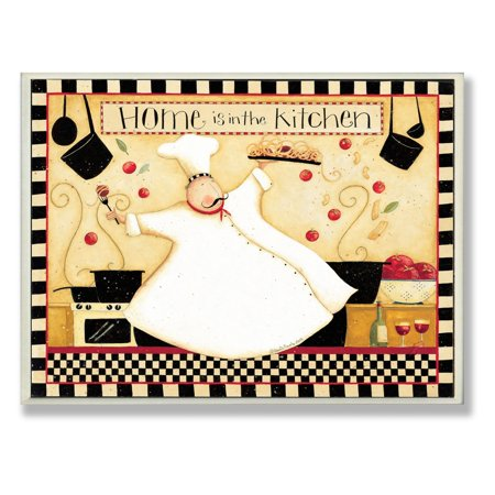The Stupell Home Decor Collection Home Is In The Kitchen Wall Plaque