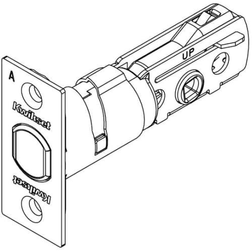 Kwikset 81308 Square Corner Adjustable Deadbolt Latch