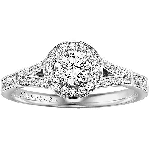 Keepsake Shooting Star .75 Carat T.W. Diamond 10kt White Gold Engagement Ring