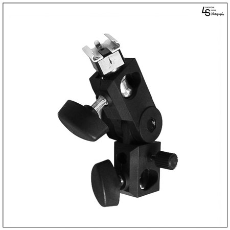 Pro Photography Flash Hot Shoe Umbrella Holder Mount Light Stand Bracket Swivel for All Hotshoe Strobes by Loadstone Studio (Strobe Photography Lighting Kit)