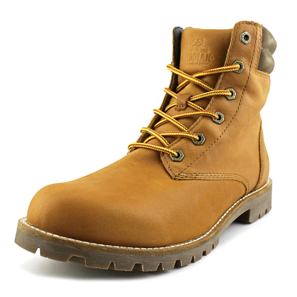 Kodiak Magog Men  Round Toe Leather Tan Boot