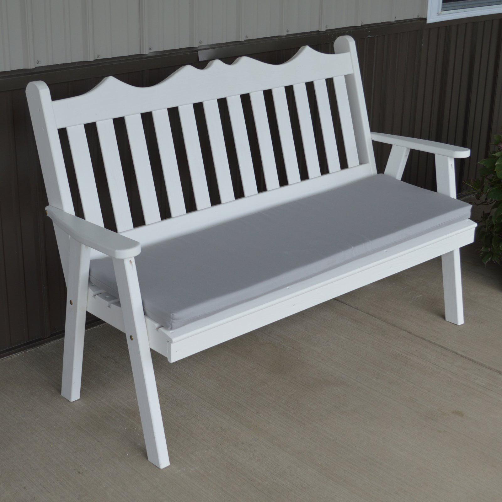 A & L Furniture Yellow Pine Royal English Garden Bench