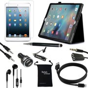 """iPad Pro 12.9 Inch Case and Accessories - DigitalsOnDemand ® 9-Item Kit for Apple iPad Pro 12.9"""" (2015 Release) - Leather Cover Case, Screen Protector, Stylus Pen, USB Cables + Charger"""