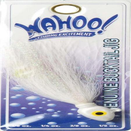 Bucktail Fishing Lure (Wahoo Flashin' Bucktail 1/2oz, White)