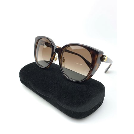 Gucci GG0369S 002 Sunglasses Havana Brown Frame Brown Gradient Lenses 54mm
