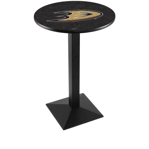 NHL Pub Table by Holland Bar Stool, Black Anaheim Ducks, 42'' L217 by Holland Bar Stool Co