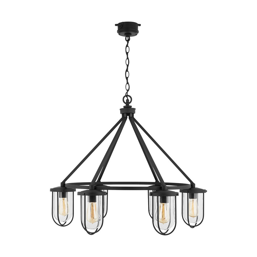 Capital Lighting 934261bk Corbin 6 Light Outdoor Chandelier Black Walmart Com Walmart Com